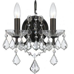 Crystorama Lighting CRY 4452 VZ CL S Filmore Filmore 2 Light Elements Crystal Br