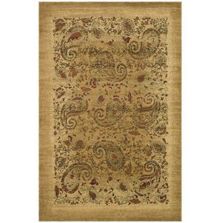 Lyndhurst Collection Paisley Beige/ Multi Rug (5 3 X 7 6)