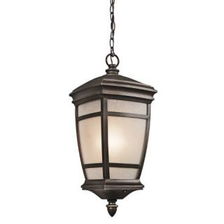 Kichler 49276RZ Outdoor Light, Transitional Pendant 1 Light Fixture Rubbed Bronze