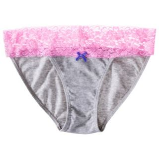 Xhilaration Juniors Wide Lace Cotton Bikini   Pink XS