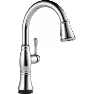 Delta Faucet 9197T DST Cassidy Single Handle Pull Down Kitchen Faucet with Touch