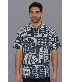 Quiksilver Waterman Pua Tree S/S Shirt Mens Short Sleeve Button Up (Black)
