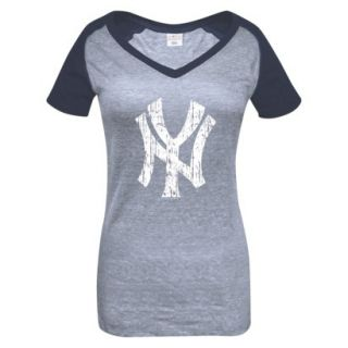 MLB Womens New York Yankees T Shirt   Grey/Navy (S)
