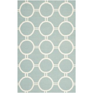 Safavieh Dhurries Light Blue/Ivory Rug DHU636C Rug Size 5 x 8