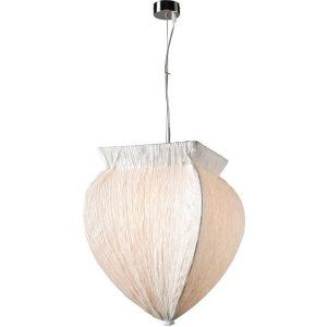 PLC Lighting PLC 73034 WHITE CFL Bombay 1 Light Pendant Bombay Collection
