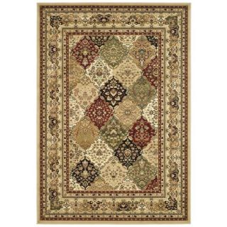 Lyndhurst Collection Multicolor/ Beige Rug (5 3 X 7 6)
