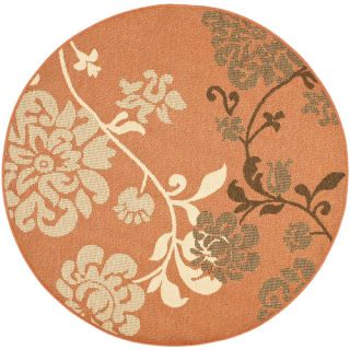 Safavieh Courtyard Terra Natural / Brown Rug CY4027C Rug Size Round 53