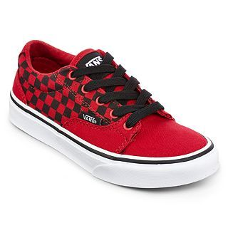Vans Kress Boys Skate Shoes, Chili Pepper/blk, Boys