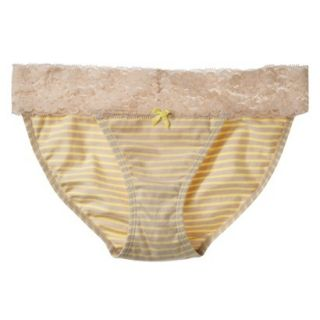 Xhilaration Juniors Wide Lace Cotton Bikini   Dandelion Yellow L