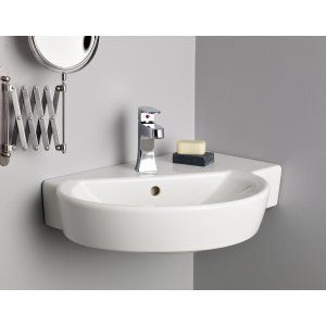 Cheviot 1326 WH 1 Barcelona Wall Mount Sink with Single Hole Faucet Drilling