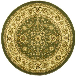 Lyndhurst Collection Majestic Sage/ Ivory Rug (8 Round)