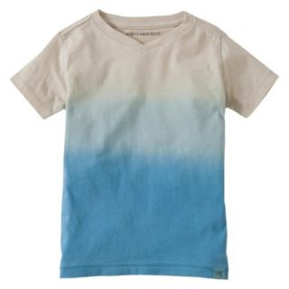 Burts Bees Baby Toddler Boys Dip Dye V Neck Tee   Blue/Grey 4T
