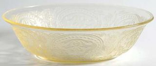 Indiana Glass Horseshoe Yellow Cereal Bowl   Yellow              Depression Glas