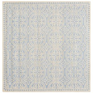 Safavieh Cambridge Light Blue/Ivory Rug CAM123A Rug Size Square 6 x 6