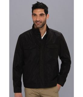Kenneth Cole Reaction Bonded Hipster Mens Coat (Black)