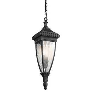 Kichler 49134BKG Outdoor Light, Classic (Formal Traditional) Pendant 2 Light Fixture Black with Gold
