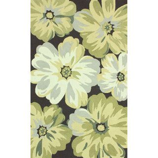 Nuloom Handmade Big Floral Brown Rug (36 X 56)