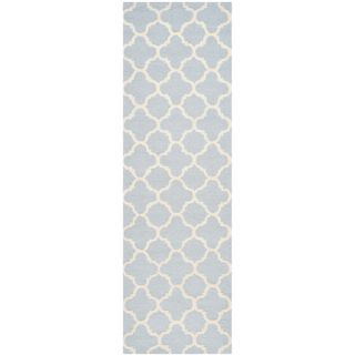 Safavieh Cambridge Light Blue / Ivory Rug CAM130A Rug Size Runner 26 x 6