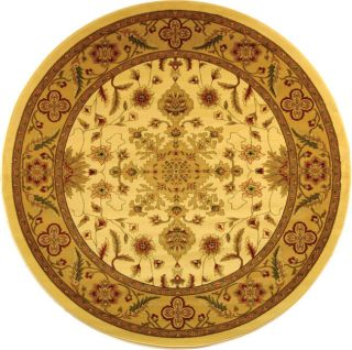 Lyndhurst Collection Ohsak Ivory/ Tan Rug (8 Round)