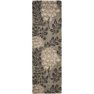 Safavieh Florida Shag Smoke/Dark Brown Rug SG456 7928 Rug Size Runner 23 x 7