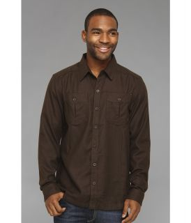 Mountain Hardwear Solid Flannel Twill Shirt Mens Long Sleeve Button Up (Burgundy)