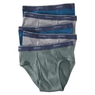 Fruit of the Loom Mens Low Rise Brief 5PK   Assorted Colors M