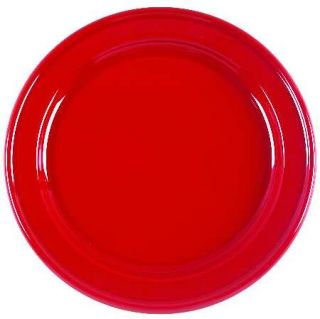 Emile Henry Cerise (Red) Dinner Plate, Fine China Dinnerware   Red And White, Un