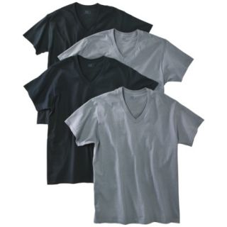 Fruit of the Loom Mens 4 pack V neck Tee   Assorted Colors XXL