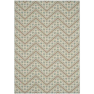 Safavieh Hampton Light Blue / Ivory Rug HAM513AL Rug Size 51 x 77