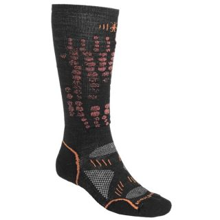 SmartWool PhD Light Ski Socks   Merino Wool (For Men and Women)   LIME (M )