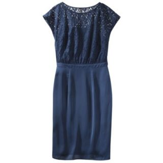 TEVOLIO Womens Lace Bodice Dress   Office Blue   6