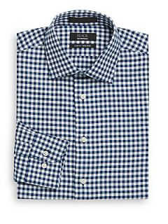 Gingham Non Iron Dress Shirt/Slim Fit   Poseidon