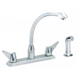 Elkay LKD2443 Allure ADA Compliant Two Handle Centerset Kitchen Faucet with Side