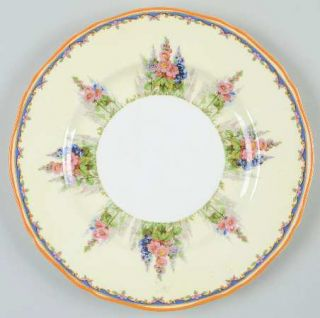 Alfred Meakin Hollyhock Salad Plate, Fine China Dinnerware   Floral