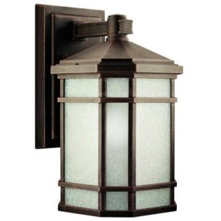 Kichler 9719PR Outdoor Light, Arts and Crafts/Mission Wall Mount 1 Light Fixture Prairie Rock