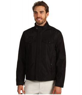 Kenneth Cole Reaction Poly Bonded Moto Mens Coat (Black)