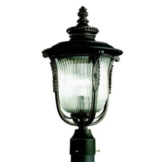 Kichler 49004RZ Outdoor Light, European Post Mount 1 Light Fixture Rubbed Bronze