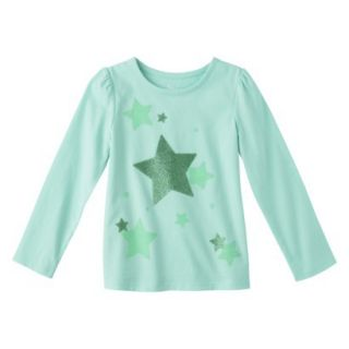 Circo Infant Toddler Girls Long sleeve Graphic Tee   Sea Foam 3T