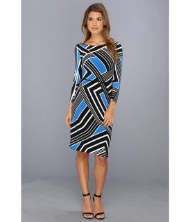Calvin Klein L/S Printed Matte Jersey Dress Womens Dress (Multi)