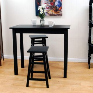 Carolina Chair and Table Co Tavern 3 Piece Black Pub Table Set   with Tavern