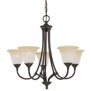Thomas Lighting THO SL880162 Harmony Chandelier Aged Bronze 5x100W