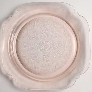 Indiana Glass Recollection Pink Dinner Plate   Pink,Pressed,Scroll Design