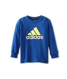 adidas Kids Icon L/S Tee Boys T Shirt (Navy)