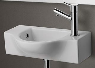 Alfi Brand AB105 Bathroom Sink, Small Wall Mounted Porcelain Basin White