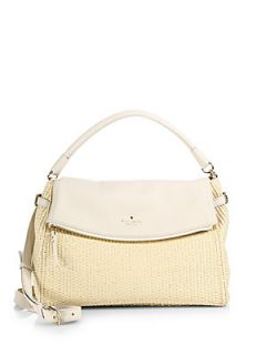 Kate Spade New York Cobble Hill Little Minka Straw Satchel   White