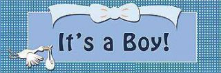 Its A Boy Self Adhesive Vinyl Banner    18 x 54 Inches, Blue
