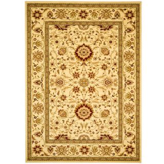 Lyndhurst Collection Majestic Ivory/ Ivory Rug (8 X 11)