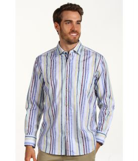 Tommy Bahama St. Barts Stripe L/S Shirt Mens Long Sleeve Button Up (Blue)