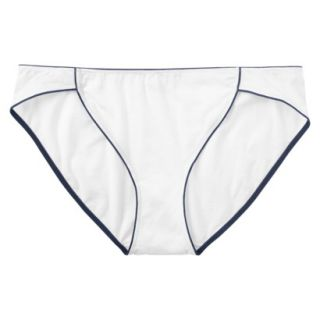 JKY By Jockey Womens Cotton Stretch Bikini   White 6