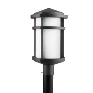 Kichler 9967GNT Outdoor Light, Soft Contemporary/Casual Lifestyle Post Mount 1 Light Fixture Textured Granite